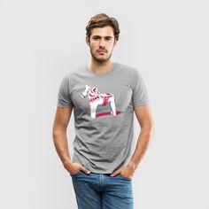 Dalahäst Svensk t-shirt spreadshirt Scandinavian Swedish