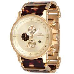 Tortoise Chronograph Watch.