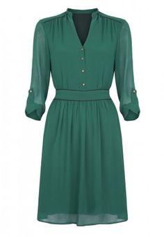 Tie Waist Dress green