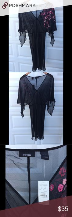 NWT Express Black Dress Size M This dress is NWT.  Size M 100% Silk Comes from a pet free and smoking free home Express Dresses