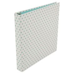 "Office by Martha Stewart™ 1"" Binder, 3 Ring, Printed Dots (28871) 