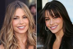 Celebs with and without bangs: Sofia Vergara