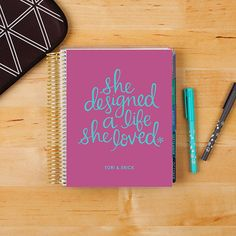 2016-17 #ECLifePlanner in'Life She Loved.' Choose your interior color theme (neutral or colorful), and then your weekly layout (weekly, horizontal or vertical)! #ErinCondren