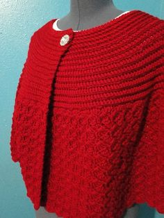 A Easy to make crochet Capelet by fuzzbuttfarms on Etsy