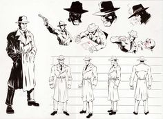 Detective Character Sheet by ~Erik-Benson on deviantART Keywords: Detective, trench coat, fedora,
