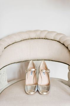 Metallic gold and sliver shoes. Photography by Laura Babb