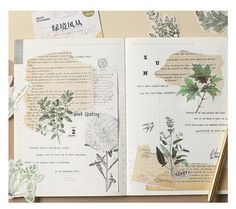 Your place to buy and sell all things handmade Vintage Botanical Washi Stickers Leaf Natural Plants Washi Stickers Planner Junk Journal Scrap Junk Journal, Album Journal, Bullet Journal Ideas Pages, Scrapbook Journal, Bullet Journal Inspiration, Memory Journal, Scrapbook Cards, Scrapbook Cover, Scrapbook Photos