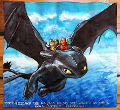 Toothless and the ninja, cool