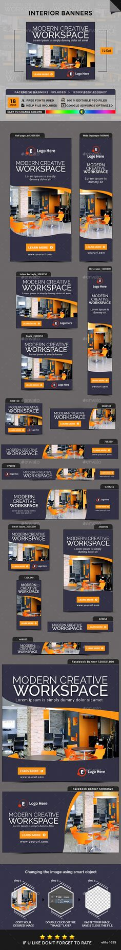 Interior Banners Template PSD. Download here: https://graphicriver.net/item/interior-banners/17104730?ref=ksioks