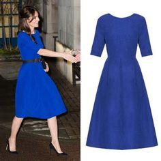 Kate Middleton wears cobalt blue dress from Indian designer
