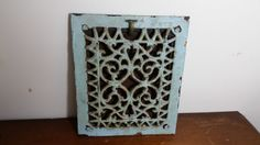 Ornate Victorian Cast Iron Wall or Floor Grate - Antique Grate - Architectural Salvage - Industrial - Antique Heating - Wall Art - Decor by GratefulBlessingsVtg on Etsy