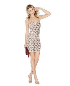 Sequins Plaid Dress