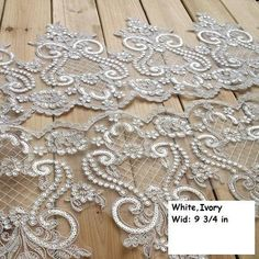 Items similar to Alencon lace trim/Lace Wedding Dress Lace Fabric/Boho Wedding Dress/Prom Dress/Boho Dress/Bridal Veil Lace/Sequin Lace on Etsy Lace Weddings, Bridal Wedding Dresses, Bridal Lace, Diy Wedding, Wedding Bride, Wedding Lace, Embroidered Lace, Lace Applique, Floral Embroidery