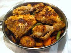 African poulet DG or poulet directeur général - Chicken DG from Cameroon