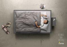 Riposa Swiss Sleep: Recharge your Batteries, Guy     Recharge your Batteries.  Advertising Agency: Havas Worldwide Switzerland, Zurich