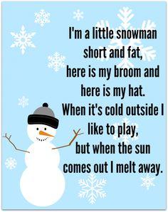 winter songs for preschool - Google Search