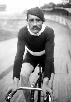 A French racing cyclist, in 1912 by Adam Harbutt