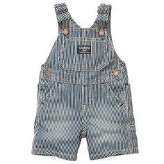 OshKosh Bgosh Striped Denim Shortalls - Baby