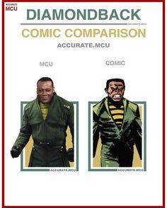• DIAMONDBACK - COMIC COMPARISON • Sorry that this comparison looks a bit different but there are no - accurate.mcu