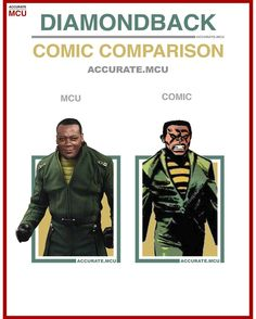 • DIAMONDBACK - COMIC COMPARISON • Sorry that this comparison looks a bit different but there are no - accurate.mcu