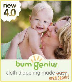 Enter to win one of the super popular BumGenius 4.0 OS Diaper, a pair of BumGenius Babylegs and (2) BumGenius Cloth Diaper Detergent Samples!