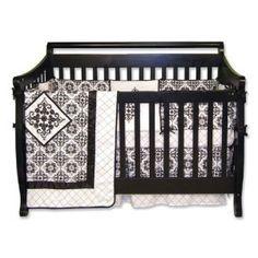 Trend Lab Versailles Black and White 4 Piece Crib Set --- http://viewn.us/b5