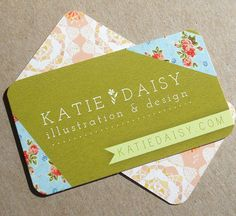 Katie Daisy Illustration & Design #Business #Card #Cards #Stationery #Branding #Pretty
