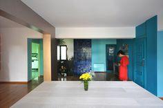 PointSupreme Architects: Giorgia Apartment 01-Living-Room-towards-WC