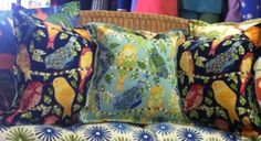 Outdoor fabric! Pillows from On Board Fabrics!