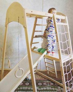 Kids Indoor Playground, Playground Design, Children Playground, Wooden Ladder, Ladder Decor, Outdoor Play Gym, Indoor Gym, Toddler Gym, Toddler Playroom