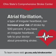 Does your heart skip a beat? Certain types of irregular heartbeat can increase your risk of stroke. Talk to your doctor about your risk. #hearthealth #stroke #prevention