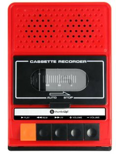 Old, cool or both?   Thumbs Up UK iRecorder Retro Speaker for iPhone 4/4S/5 - Retail Packaging - Red: Cell Phones & Accessories