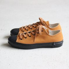 VULCANIZED CLOTH SHOES LIKE POTTERY #brown duck paraffin