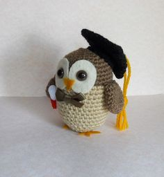 Amigurumi Graduation Owl Crochet Plush
