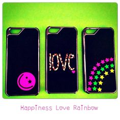Smiley, Unicorn and rainbow smartphone cases - iPhone 5/5S Case handmade from genuine leather!  Handgemacht aus echtem Leder für iPhone 5/5S & iPhone 4/4S <3