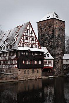 Weinstadel & Wasserturm Medieval building in Nuremberg, Germany