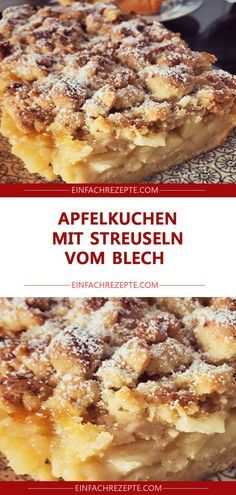 Apfelkuchen mit Streuseln vom Blech 😍 😍 😍 Apple cake with sprinkles from sheet metal 😍 😍 😍 Easy Smoothie Recipes, Easy Smoothies, Easy Cake Recipes, Cupcake Recipes, Cookie Recipes, Dessert Recipes, Healthy Recipes, Homemade Frappuccino, Easy Vanilla Cake Recipe
