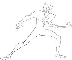 Printable The Riddler Play Game Coloring Pages