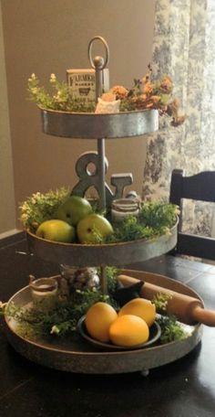 Decorating three-tiered trays