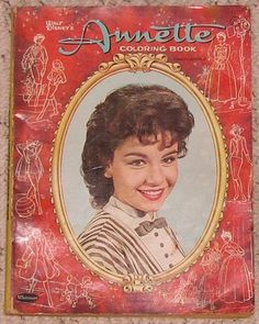 Vintage Walt Disneys 1961 Annette Funicello Coloring Book Whitman Publishing