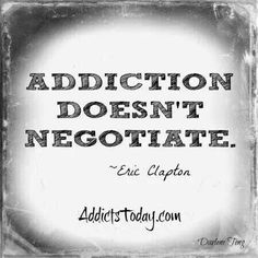 """You can't just have a """"little bit"""" or """"just do it once."""" You can let addiction get its foot in the door. #recovery #sobriety"""