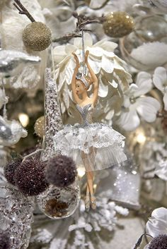 Snowflake Ballerina ornament in the Winter Frost theme by Goodwill idea for the Nutcracker Ballet Noel Christmas Tree, Dancer