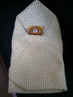 38週0日 手編みのおくるみと産後の生活準備 | 前下がり 右肩上がり