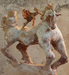 Fanny Ferré Horse Sculpture, Art Sculptures, Cowboy Horse, Ferrat, Equine Art, Horse Art, Wood Carving, Make Me Smile, Cowboys