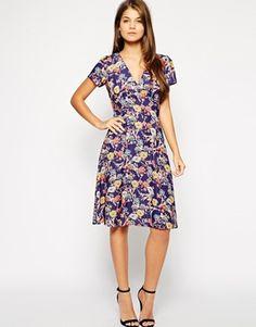 Love Midi Skater Dress in Delicate Floral Print