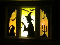 Witch Window Silhouette | Here is a display from Kellie that she made with an inexpensive ...