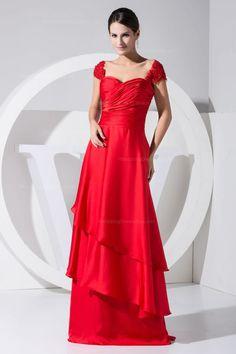 Cap sleeve with empire waist multi-layer skirt floor-length dress  Read More:     http://image1.nextdressin.com/index.php?r=cap-sleeve-with-empire-waist-multi-layer-skirt-floor-length-dress-elgeno.html