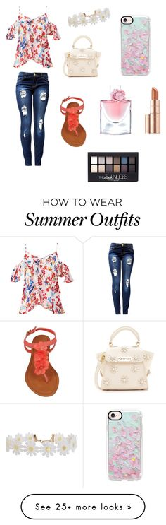 """Cute Spring Outfit 🌟😜"" by lsantana13 on Polyvore featuring Tanya Taylor, ZAC Zac Posen, Humble Chic, Casetify, Lancôme, Estée Lauder and Maybelline"