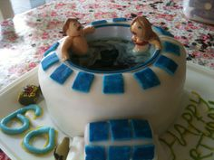 Hot Tub Birthday Cake for my Dad's 60th