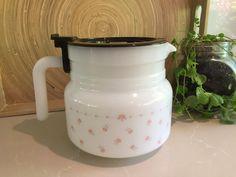 Vintage Arcopal 'Pink Rosebud' Jug/Coffee Carafe